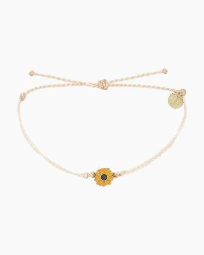Sunflower Charm Bracelet in Vanilla