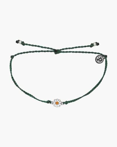Daisy Charm Bracelet in Green
