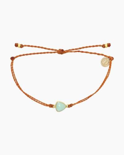 Chalcedony Charm Bracelet in Burnt Orange