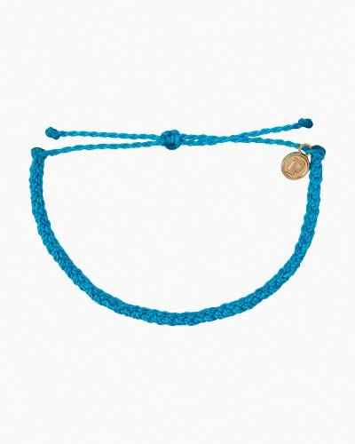 Mini Braided Neon Blue Cord Bracelet