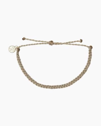 Light Grey Braided Cord Bracelet