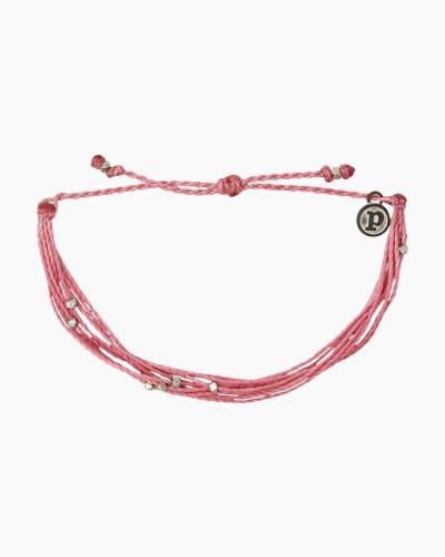 Malibu Silver and Blossom Pink Bracelet