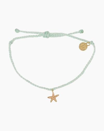 Gold Starfish Enamel Charm Bracelet in Winterfresh