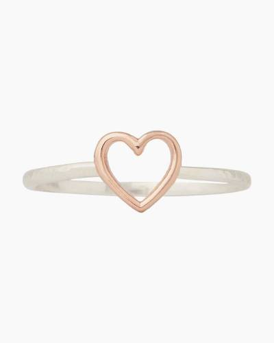 Open Heart Ring in Two Tone