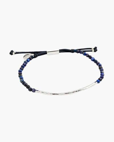 Silver Power Gemstone Bracelet for Wisdom (Lapis)