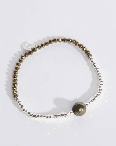 Power Gemstone Bracelet for Strength (Pyrite)