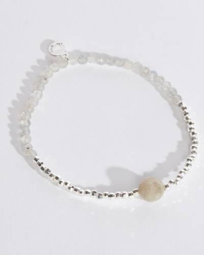 Power Gemstone Bracelet for Strength (Labradorite)