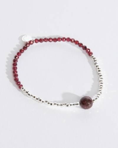 Power Gemstone Bracelet for Strength (Garnet)
