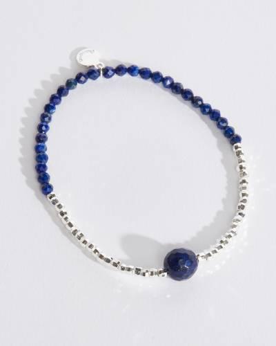 Power Gemstone Bracelet for Strength (Lapis)
