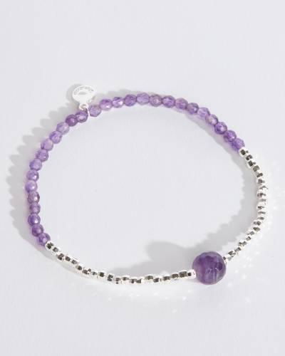 Power Gemstone Bracelet for Strength (Amethyst)