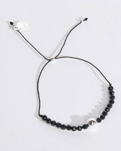 Newport Silver Adjustable Bracelet (Black Onyx)