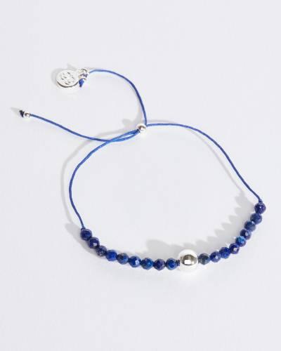Newport Silver Adjustable Bracelet (Lapis)