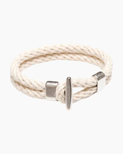 T Bar Bracelet in Ivory and Silver
