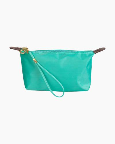 Wristlet Zip Pouch in Turquoise