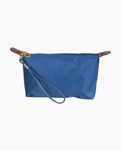 Wristlet Zip Pouch in Blue