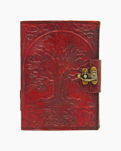 Tree of Life Embossed Leather Journal