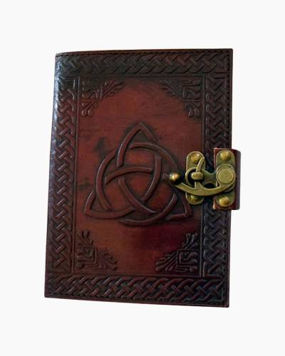Triquerta Knot Embossed Leather Journal
