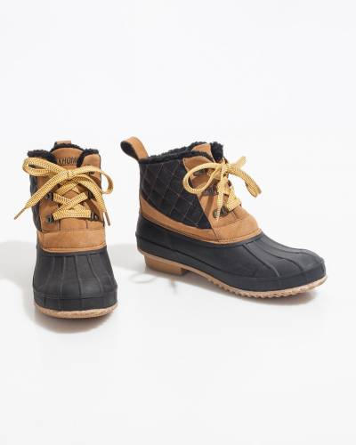 Quilted Duck Boots