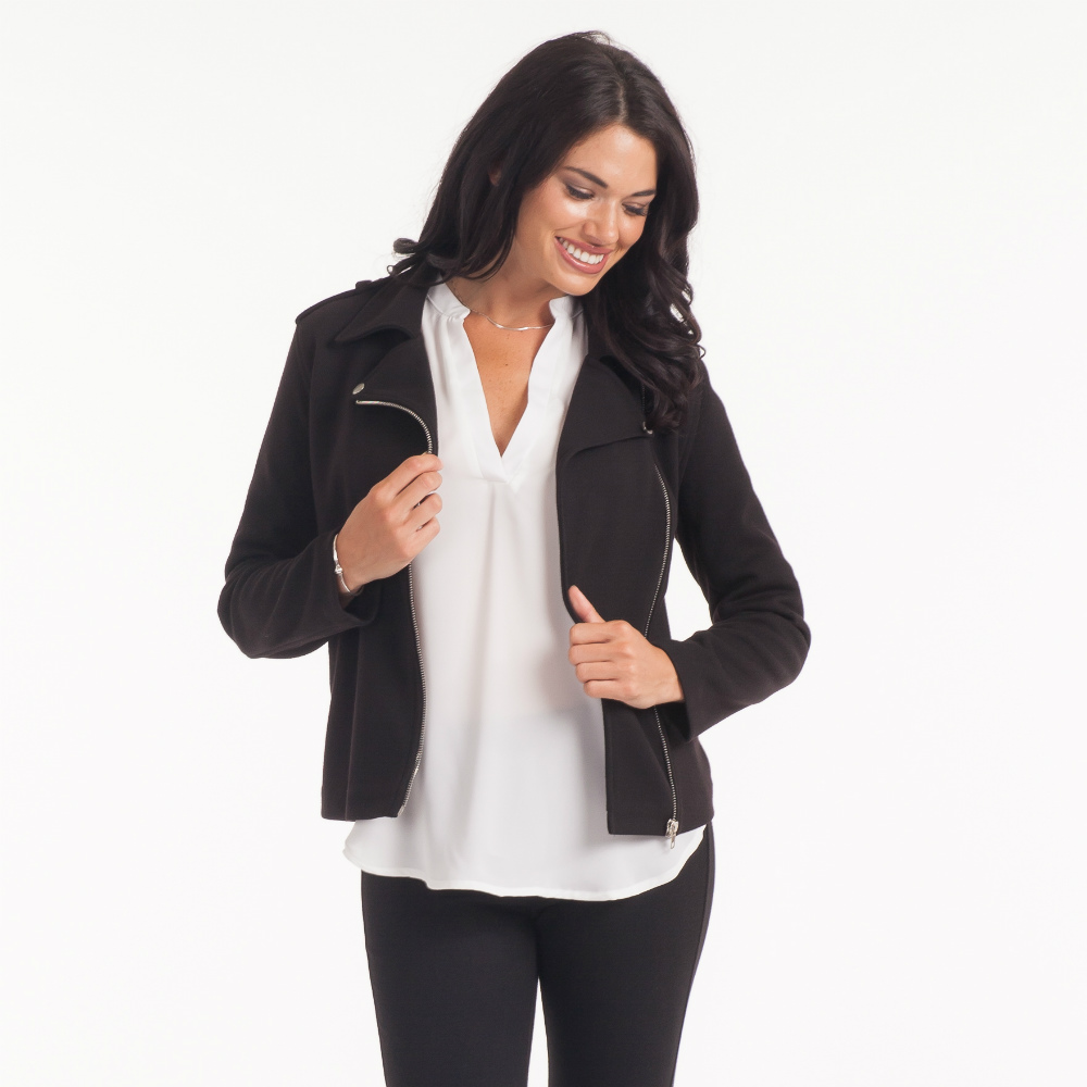 Mo:vint Lightweight Knit Moto Jacket