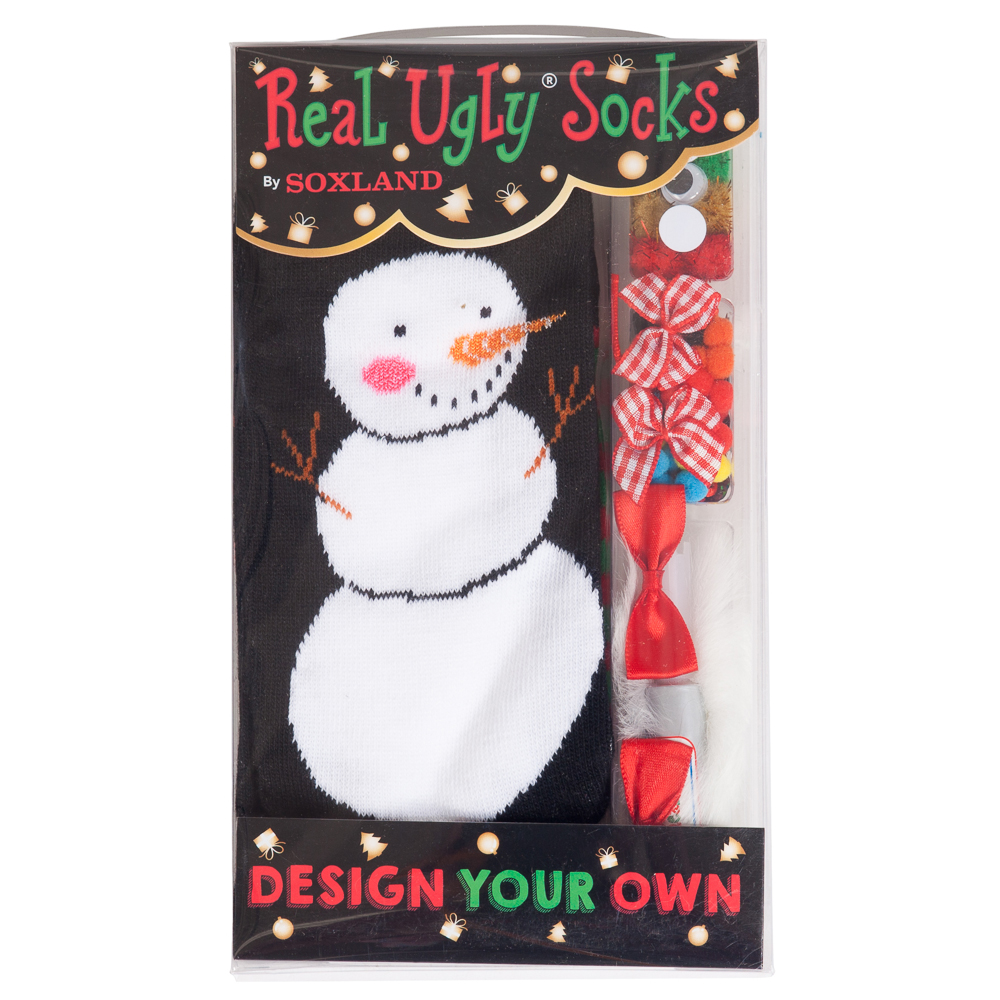 Soxland Design Your Own Snowman Real Ugly Socks