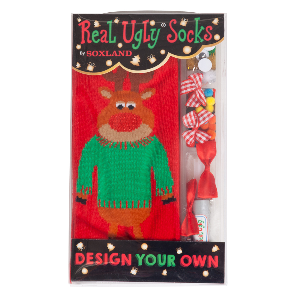 Soxland Design Your Own Reindeer Real Ugly Socks