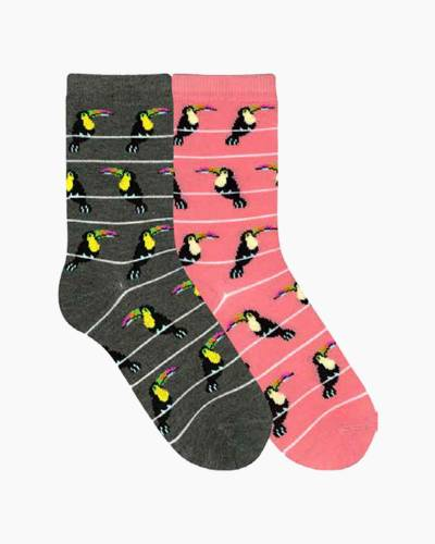 Toucan Stripes Women's Socks (Assorted Colors)