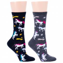 Soxland Shooting Star Unicorns Women's Socks (Assorted)