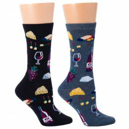 Soxland Wine and Cheese Women's Socks (Assorted)