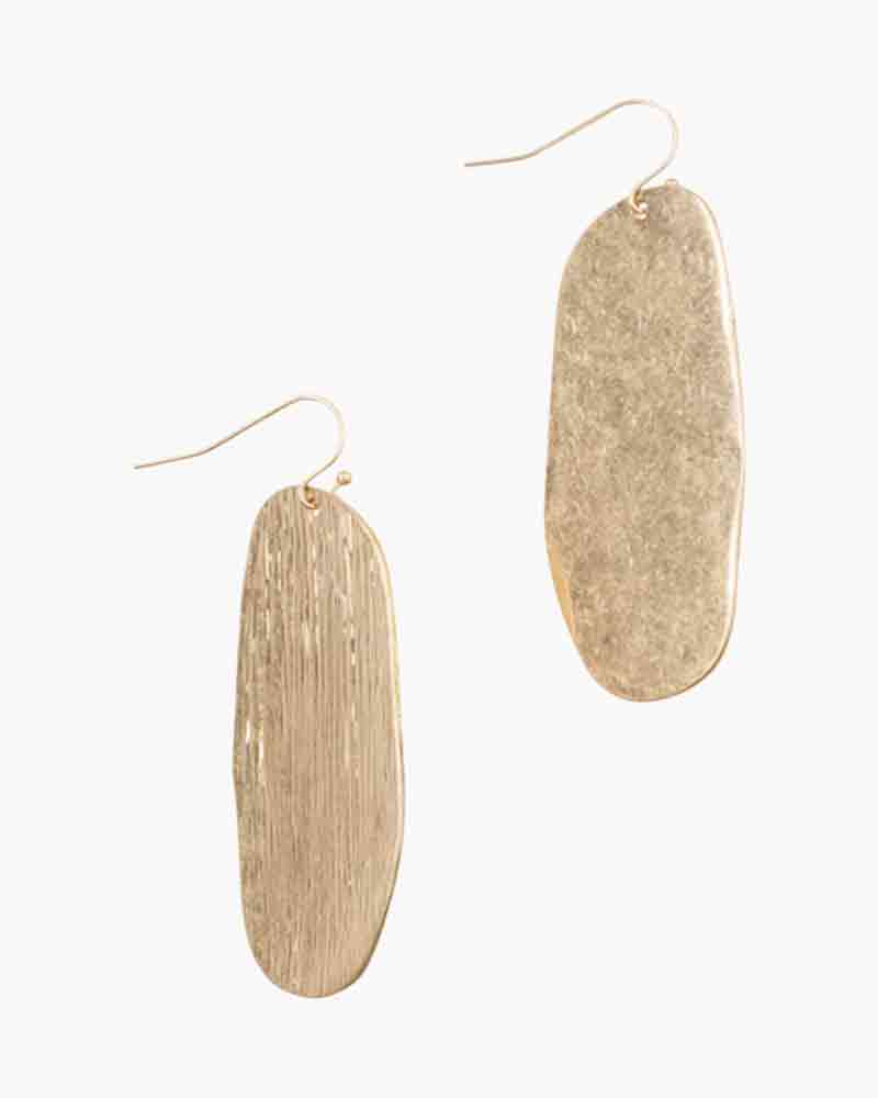 Mia and Tess Organic Oval Earrings