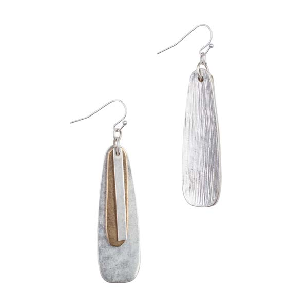 Mia and Tess Two-Tone Multi-Drop Earrings