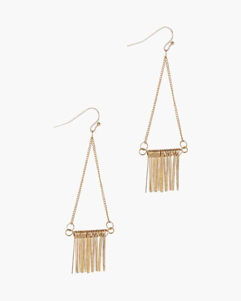 The Paper Store Chain Fringe Earrings