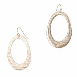 Pomina Hammered Oval Earrings in Gold