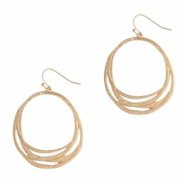 Mia and Tess Woven Hoops Earrings in Gold