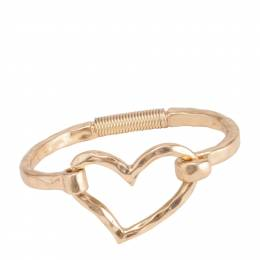 Bo BK Designs Hammered Heart Latch Bracelet in Gold