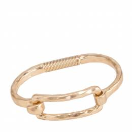 Bo BK Designs Hammered Rectangle Latch Bracelet in Gold