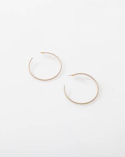Diamond-Cut Hoop Earrings