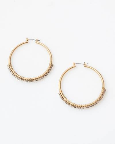 Exclusive Two-Tone Hoop Earrings