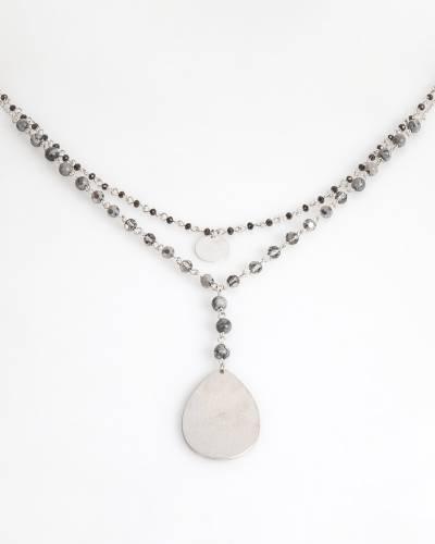 Exclusive Teardrop Disc Pendant Necklace