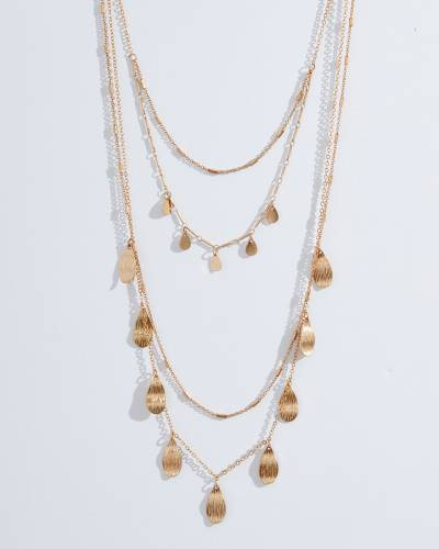 Exclusive 4-Strand Petal Necklace in Gold