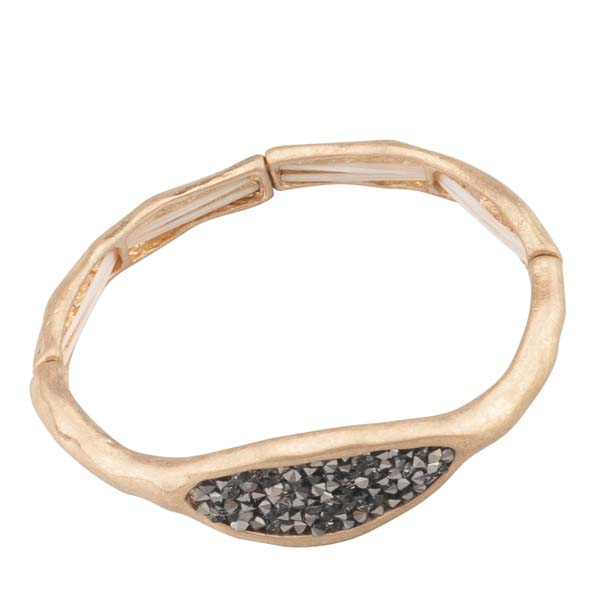Mia and Tess Organic Crystal Pave Bracelet