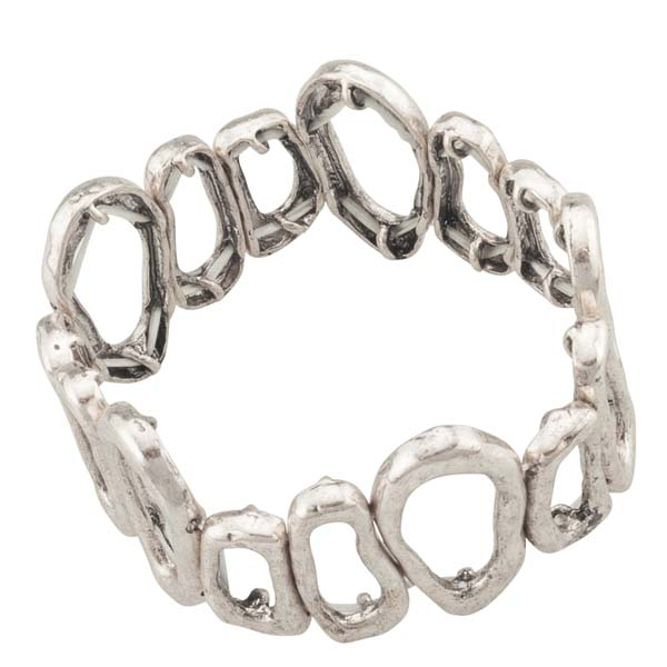 Mia and Tess Organic Ovals Stretch Bracelet