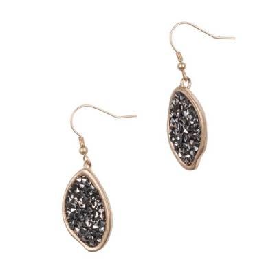 Hematite Pave Earrings
