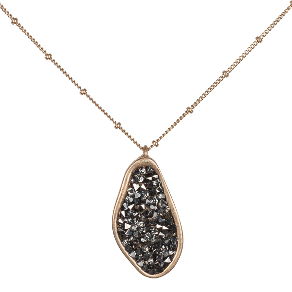 The Paper Store Organic Pave Hematite Necklace