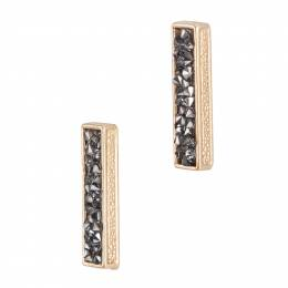 Story by Davinci Pave Bar Earrings in Gold