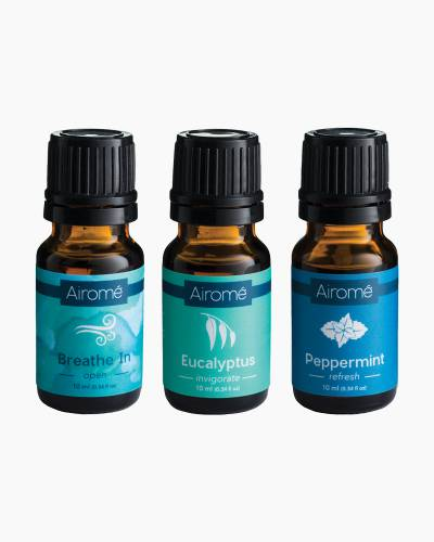 Breathe In, Eucalyptus, and Peppermint Essential Oil Trio