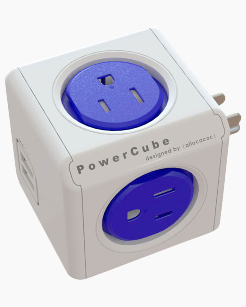 Allocacoc Blue PowerCube Outlet and USB Combo