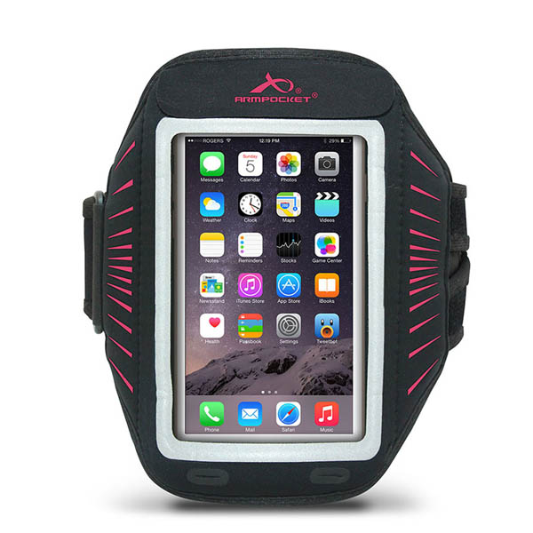 Armpocket Racer Sport Armband in Pink for iPhone 6/6S and Samsung Galaxy S5