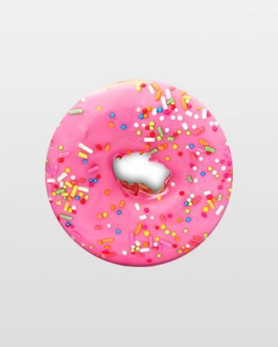 Pink Donut PopSockets Phone Grip