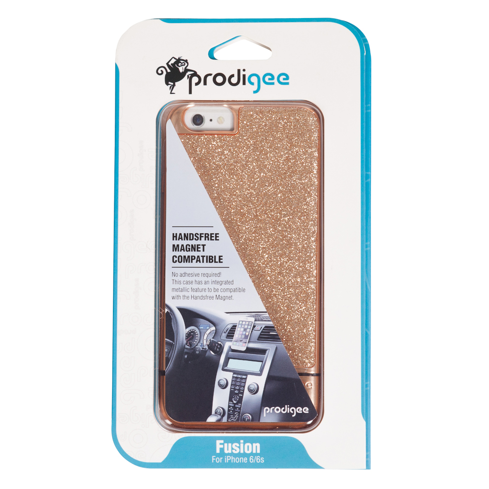 Prodigee Fusion Magnet Case for iPhone 6/6S in Gold Glitter