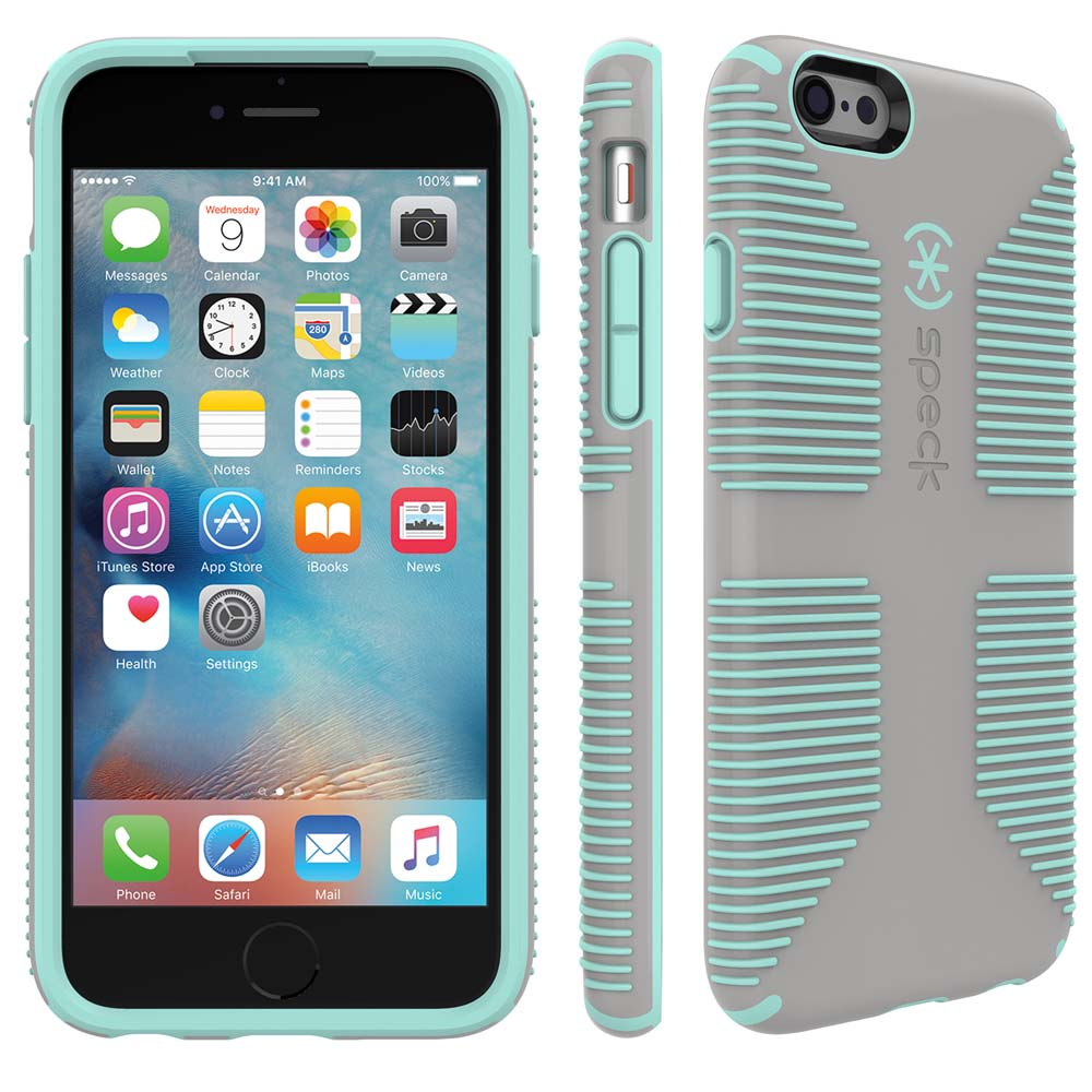 Speck Candyshell Grip Case for iPhone 6/6S in Grey and Green